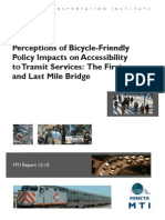 PERCEPTIONS OF BICYCLE-FRIENDLY POLICY IMPACTS