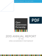Open Government Partnership Annual Report 2013