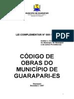Código de obras Lei complementar n° 009_2008