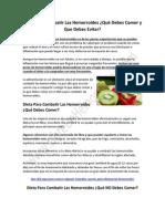 Dieta Para Combatir Las Hemorroides
