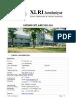 XLRI Fact Sheet 2013 2014