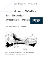 Random Walks in stock market prices