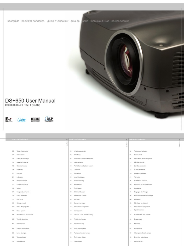 christie projector manual