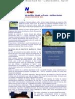 la défense des intérêts d'Israël en France de Marc Hecker