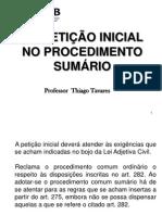 07- DA PETIÇÃO INICIAL NO PROCEDIMENTO SUMÁRIO