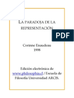 ENAUDEAU, C. - La paradoja de la representación -