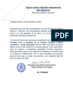 70010654 Carta de Recomendacion Pastoral Para Empleo Privada
