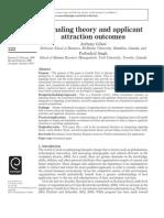 Applicant attraction outcomes