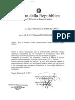 Relazione Procura RC Sul Comune Di Reggio Calabria