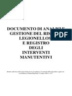 Legionella Registro e Istruzioni
