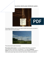 three phase electric power distribution system