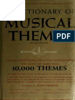 A Dictionary of Musical Themes - Barlow, Harold