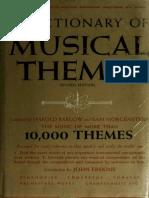 A Dictionary of Musical Themes - Barlow, Harold