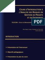 Daniel Cohen Ecole Telecom-Intro Gestion Des Risques-6 Juin 2012