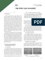 9% Ni Steel with High Brittle Crack Arrestability