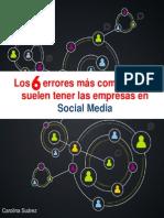 Los 6 Errores más comunes en Social Media