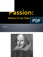 Passion- Where It Can Take You
