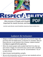 Why Inclusion of PwDs is Important for Jewish Survival, And How to Do It Right