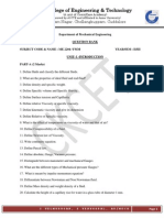 Revision Question Bank ME 2204