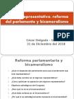 CDG - Reforma parlamentaria - Restablecimiento del bicameralismo enn el Perú (2014)