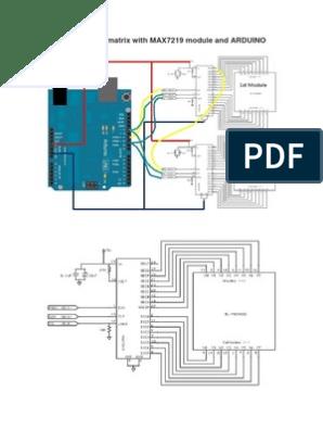 16x8 LED Dot Matrix With MAX7219 Module | Arduino | Software