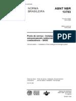Nbr 13783 - 2005 - Instalacao Hidraulica de Tanque Atmosferico Subterraneo Em Postos de Servico