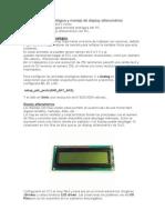 Uso de entrada analógica y manejo de display alfanumérico