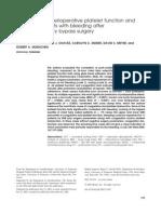 Correlation of Perioperative Platelet Function