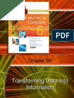 intro ch 05atrnasforming data into information