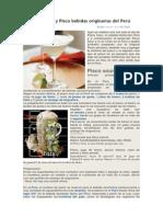 Pisco Sour y Pisco bebidas originarias del Perú