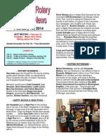 Rotary Club of Moraga Newsletter 2-11-14