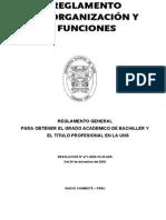 Reglamento de Grados y Titulos UNS 2011[1]