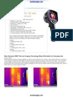 AC FLIR E Series Infrared Camera Datasheet