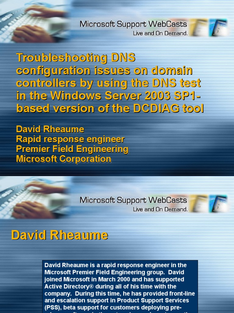Troubleshooting DNS Using DCDIAG | Active Directory | Domain