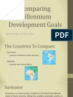 comparing millenium goals slide show