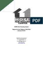 Exhibit A_HOPE Fair Housing Testing Report