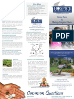 Hospice of the Upstate General Brochure