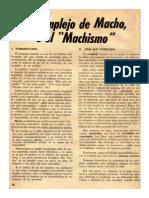 """El Complejo Del Macho e el """"Machismo"""""""