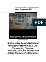 Military Resistance 12B7 a Life-Threatening Disaster