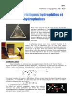 Les Caracteristiques Hydrophiles Et Hydrophobes