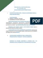GUÍA - REPASO DE EXAMEN ESCRITO PRIMER PARCIAL Metodología de la Investigación Social (Zoila Pablos Lugo)