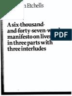 Tim Etchells - Liveness Manifesto