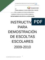 Instructivo de Escoltas 2009-2010 Nuevo