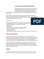 Manual de HTML Para Principioantes