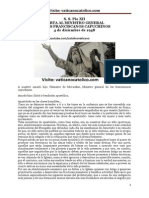 S. S. Pío XII CARTA AL MINISTRO GENERAL DE LOS FRANCISCANOS CAPUCHINOS