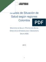 Análisis de situación de salud por regiones