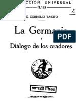 La Germania y Diálogo de los Oradores - Cayo Cornelio Tácito