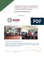 Evaluacion Final Programa Esteli - ACSUR - IMC