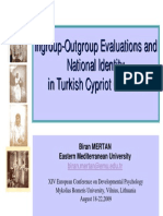 Ingroup-Outgroup Evaluations 2009