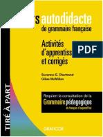 Grammaire Cours Autodidacte